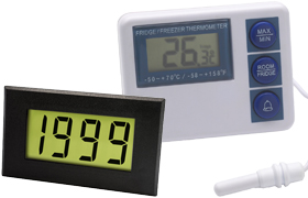 LCD Temperature/Humidity Displays