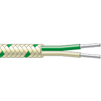 CG12...CG62 - Single Pair Fibreglass Flat Twin Thermocouple Cable (up to +400°C)