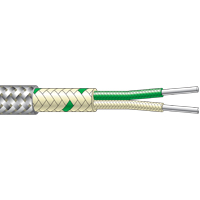 CG29...CG69 - Single Pair Fibreglass Flat Twin, Stainless Steel Braided Thermocouple Cable (up to +400°C)