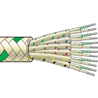 Multi Pair Fibreglass Insulated Thermocouple Cable (up to +480°C)