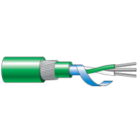 Single Pair XLPE, Twisted, Screened, Armoured, LS0H Thermocouple Cable (-30°C to +90°C)