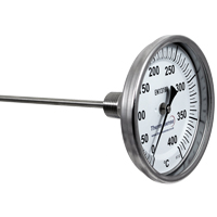 Bi-Metal Dial Thermometer (Fixed Position, Back Entry)