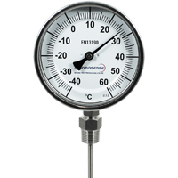 DB06/060B...DB06/500B - Bi-Metal Dial Thermometer (Fixed Position, Bottom Entry)