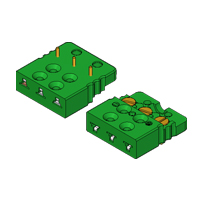 FC3B1 - Miniature PCB Socket - 3-Pin Flat Mounting