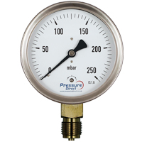 (GCD) Low Pressure Industrial Capsule Pressure Gauge (100mm Ø)
