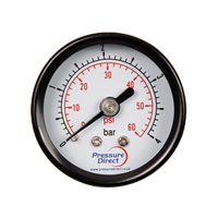 GMD/50 - Steel Case Utility Pressure Gauge (50mm Ø)