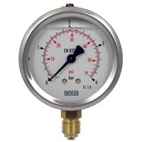 GS - Wika Glycerine-Filled Pressure Gauge (63mm Ø)