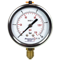 (GSD) Glycerine-Filled Pressure Gauge (63mm Ø)