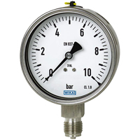 (GX) Wika Stainless Steel Pressure Gauge (100mm Ø)