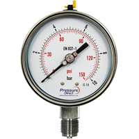(GXD) All Stainless Steel Pressure Gauge (100mm Ø)