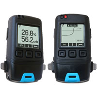 (HDT-GFX-2) Temperature/Relative Humidity Data Logger with Graphic LCD Screen