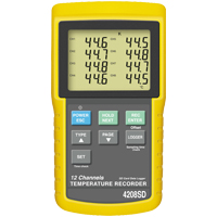 HH-4208SD - 12 Channel Thermocouple Data Logger