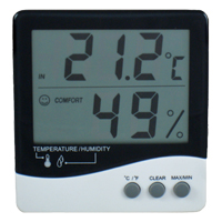 (HR-101) Indoor Temperature/Humidity Display (Wall/Desk Mounting)