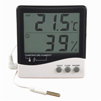 (HR-150) Indoor/Outdoor Temperature/Humidity Display (Wall/Desk Mounting) with Probe
