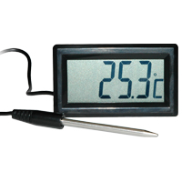 (HR-450) Indoor Panel-Mount Temperature Display with External Probe/Pad and High/Low Alarm