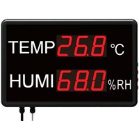 HTM-823C - Large LED Temperature and Humidity Display with Data Logging
