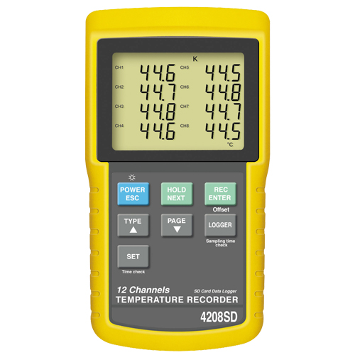Recording Thermometers Data Logger : Channel thermocouple data logger