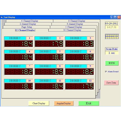 Product Data Logger Software : Software for channel thermocouple data logger