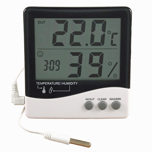 In Outdoor Temperature Humidity Display Clock Probe