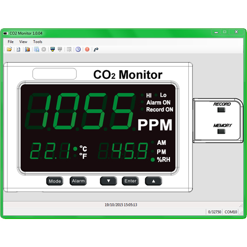 Event Data Logger With Screen : Large led co² temperature humidity monitor with data