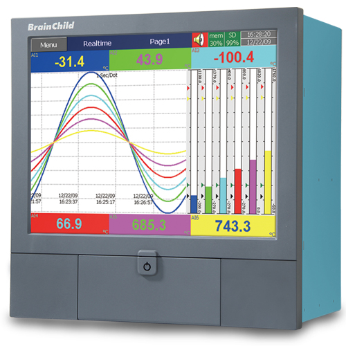 Paperless Chart Recorder Up To 48 Channels