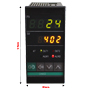 4-Digit Dual Display PID Temperature Controller (48mm x 96mm x 100mm)