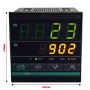 4-Digit Dual Display PID Temperature Controller (96mm x 96mm x 100mm)
