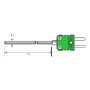 Mineral Insulated Thermocouple Sensor with Miniature Plug/Socket